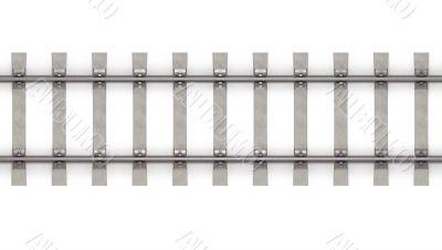 3d rails horizontal top view