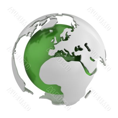 Abstract green globe, Europe