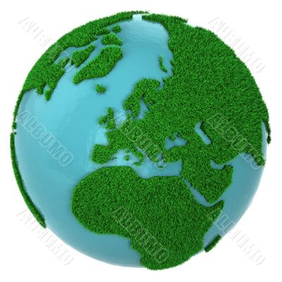 Globe of grass and water, Europe part