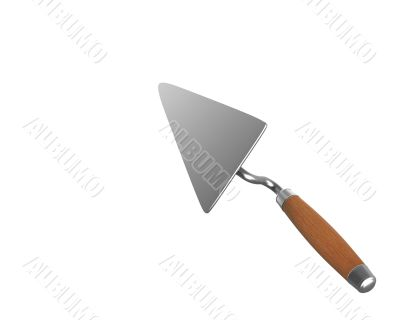 Trowel used as pointer back view