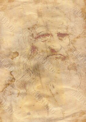 Old grunge paper a la da Vinci