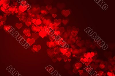 abstract red background - hearts