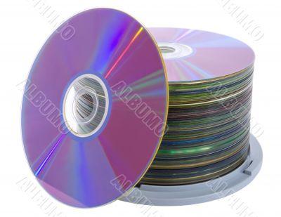 Pile of cd disks