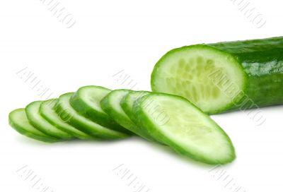 The cut cucumber