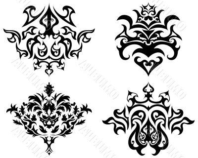 gothic emblem set