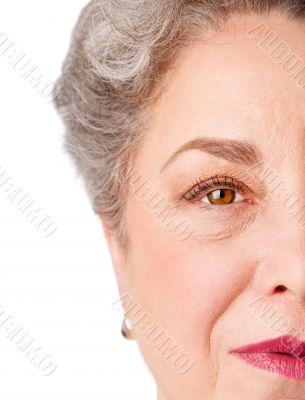 Watchful senior eye of experience