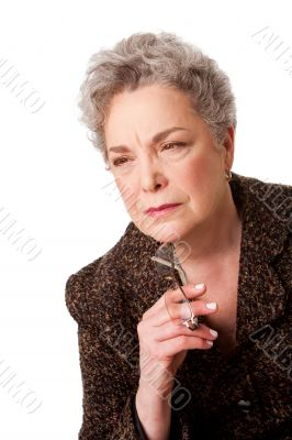 Senior woman thinking about future