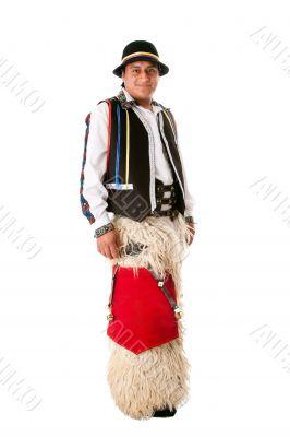 Happy indiginous Latino man