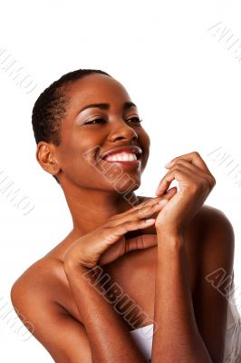 Beautiful happy smiling inspiring African woman