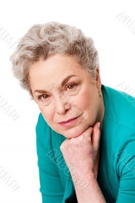 Portrait of Senior woman face