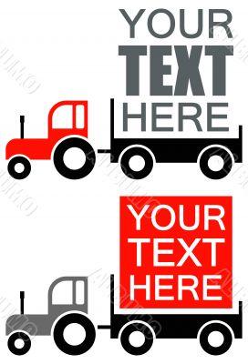 Tractor - vector advertisement background