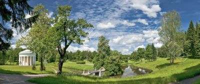 Classical landscape in summer