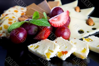 Cheese and berry
