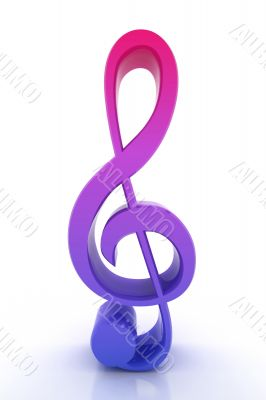 3d render musical note