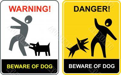 Danger! Beware of dog!