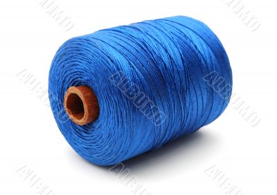 Big coil of blue thread