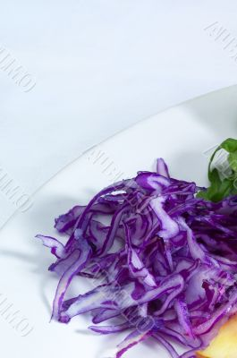 salad ingredient on a plate