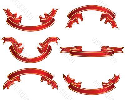 ribbons set red