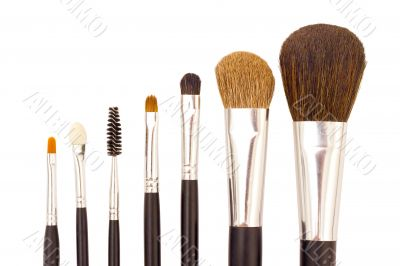 A set of brushes for applying makeup
