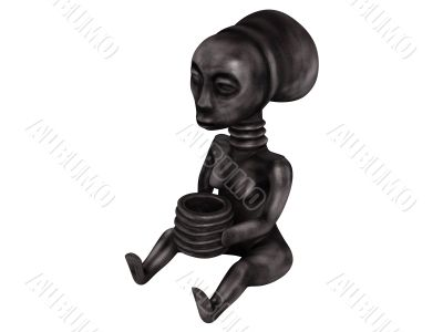 Old african statuette