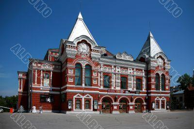 Dramatic theatre in Samara. Near to Stalin`s bunker. Russia.