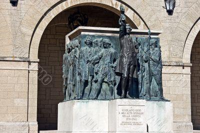 Monument Girolamo Gozi and defenders of freedom 1739-1740