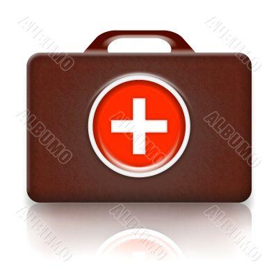 Medical first aid case retro