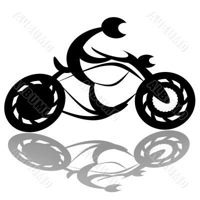 Speed biker silhouette