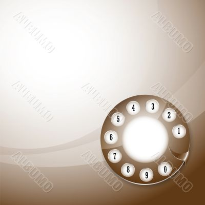 telephone disk background