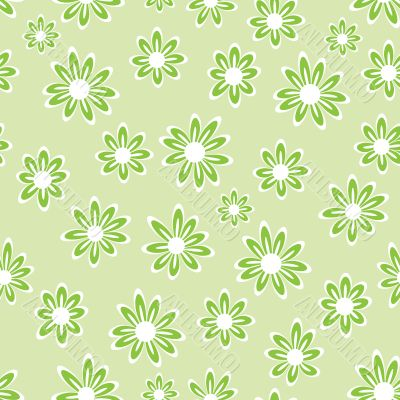 Green floral pattern - seamless