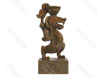 Asian jug statuette