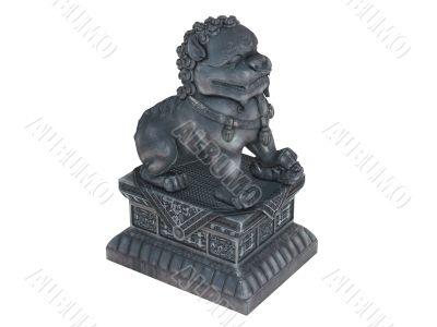 Asian lion statuette