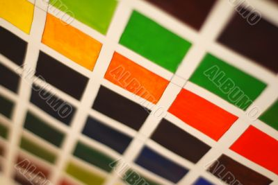 abstract watercolor background squares