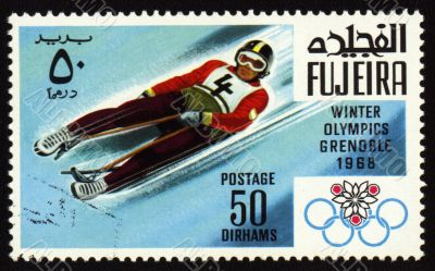 Postage stamp, Winter Olympic Games in Grenoble 1968