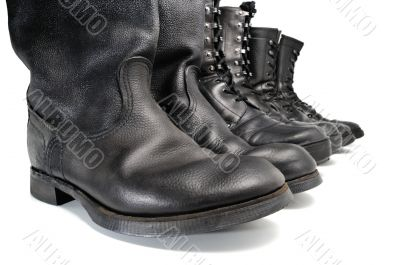 A line of working footwear