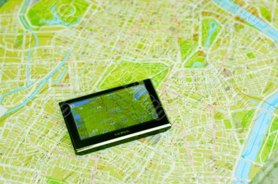 GPS and map