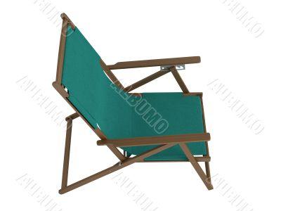 Green chaise lounge