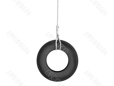 Tire-swing on the rope