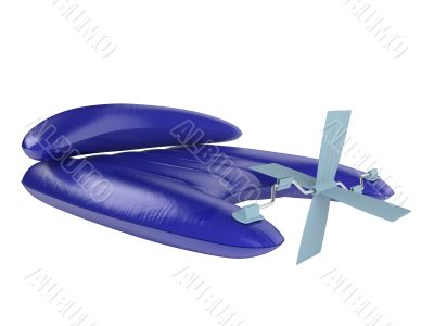 Inflatable raft with pedals