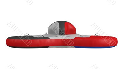 Inflatable party platform