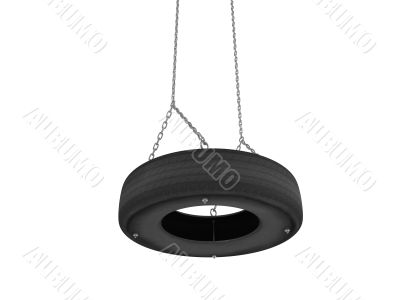 Tyre cover swing