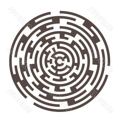 round  maze 2  izolated on white