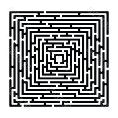 rectangle maze 2  izolated on white