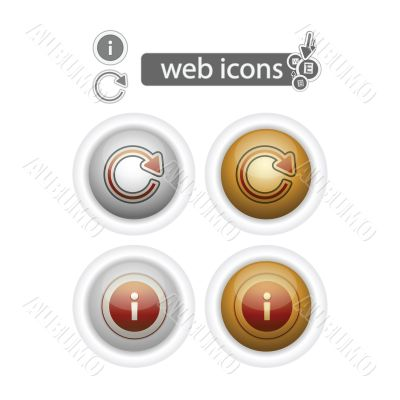 round web icons-refresh and info