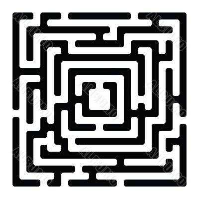 rectangle maze izolated on white
