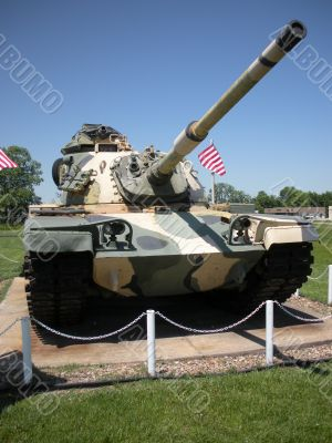 U.S. Military Tank Front Shot