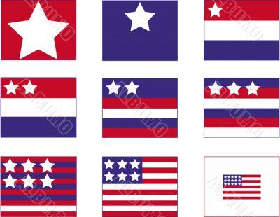 American Flag Storyboard