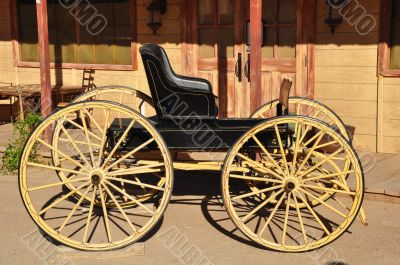 Black western carriage
