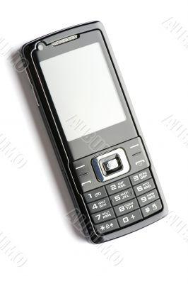 Black mobile phone macro