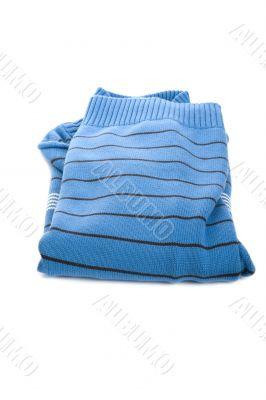 Blue jumper on white